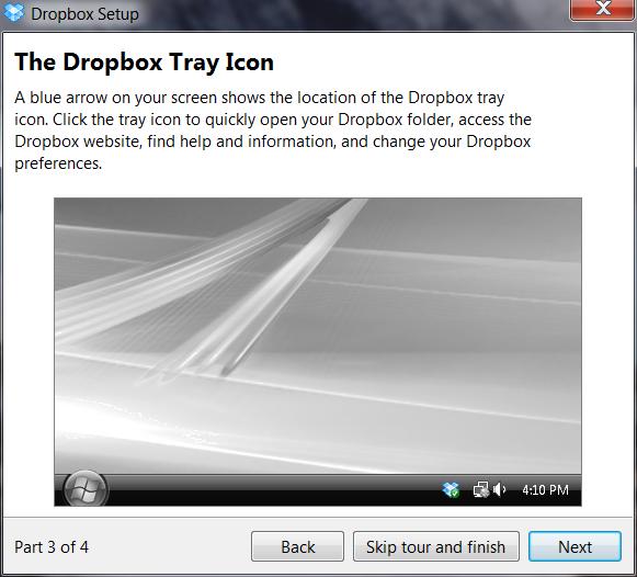 how to add dropbox folder to desktop
