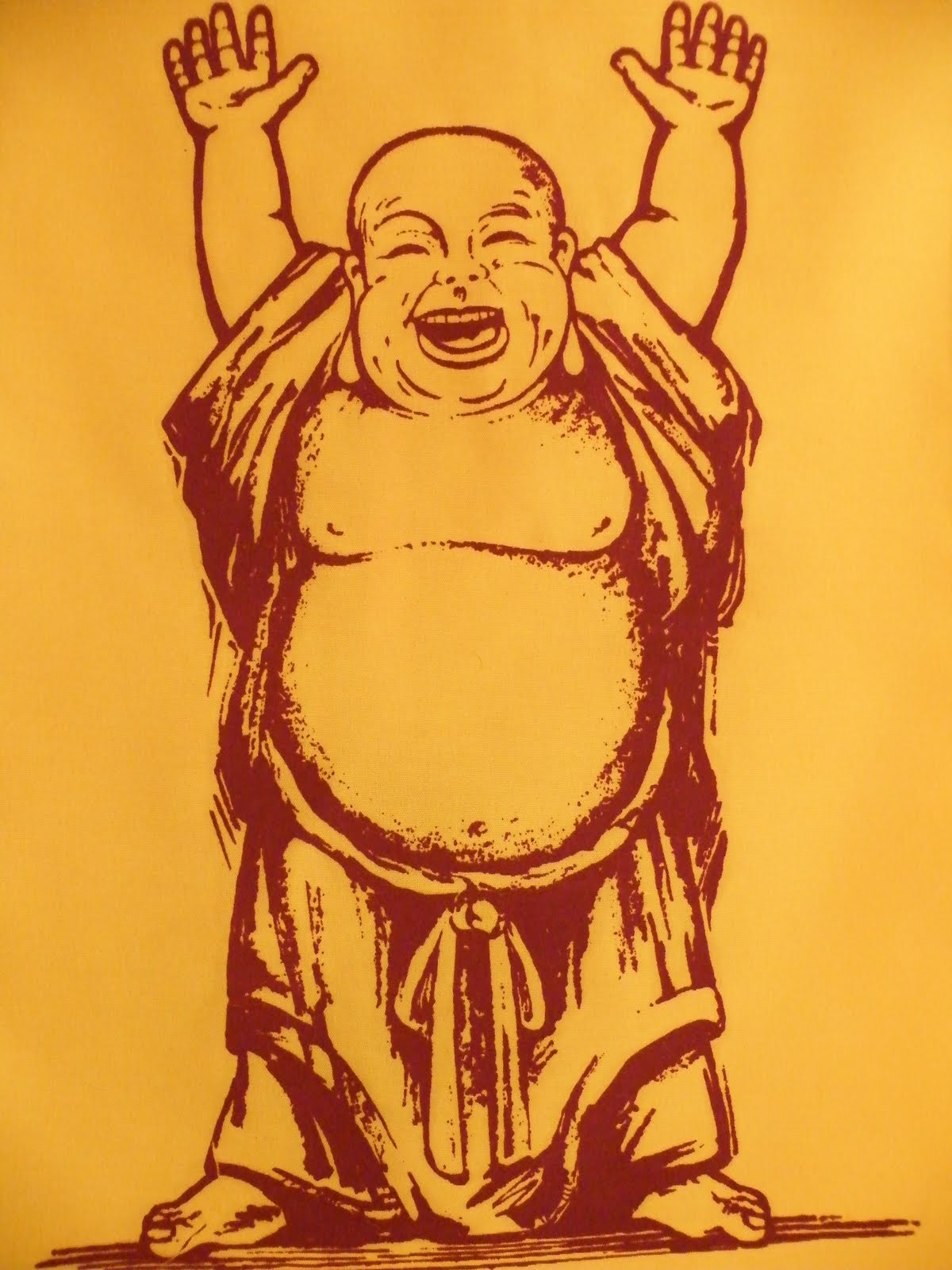 laughing buddha drawing - photo #6