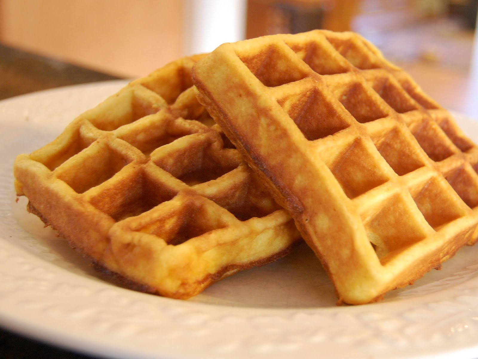 the waffles were a beautiful golden brown and i bet the leftovers will ...