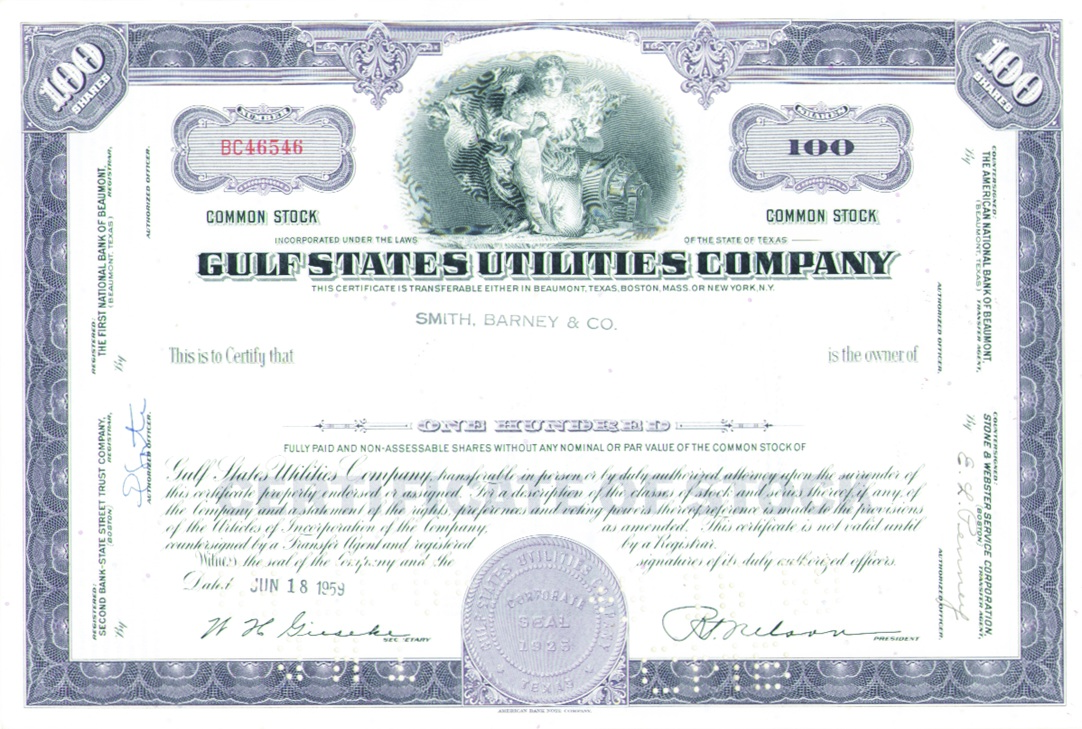 G h labarre galleries inc collectible stocks bonds gulf g h labarre galleries inc collectible stocks bonds gulf states utilities company 1betcityfo Choice Image