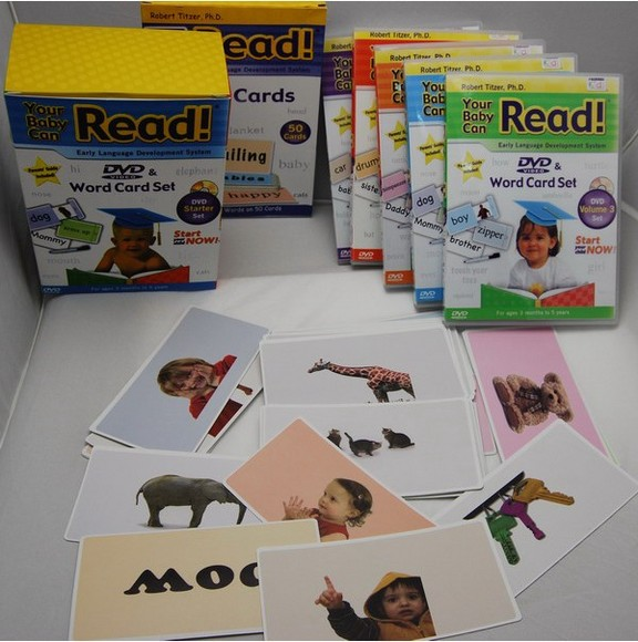 Teach Your Baby to Read Word & Picture Cards (Doman-Inspired)