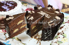 Choc.Banana Cake with Choc.Mousse filling layer