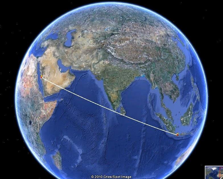 KIBLAT: Mencari Arah Kiblat Dengan Google Earth