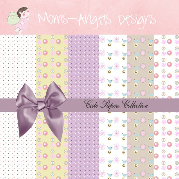Moms angels graphic designs cute papers collection for Cute designs for paper