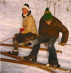 Pat comes to visit me in the Cities as things slow down a bit on the farm - cross country skiing...