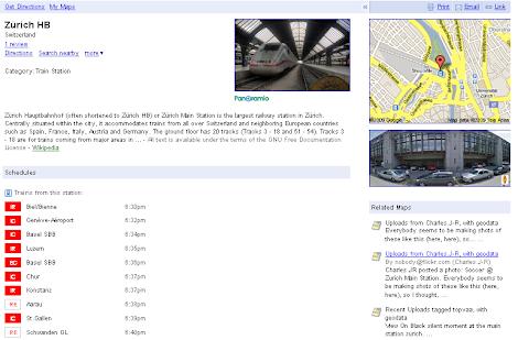 Google Pages Zurich