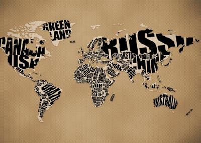 Wallpaper Mapa con Tipografía