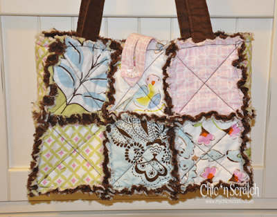 Primitive Handbags Country Quilted Crochet Purse Totes