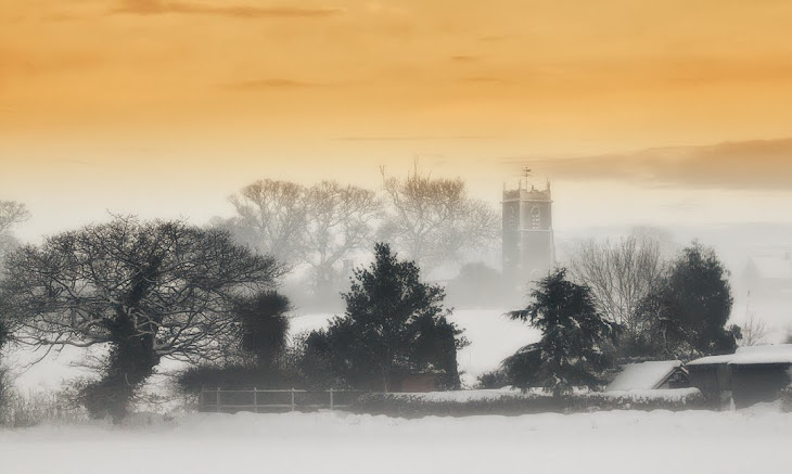 Our village church in the mist