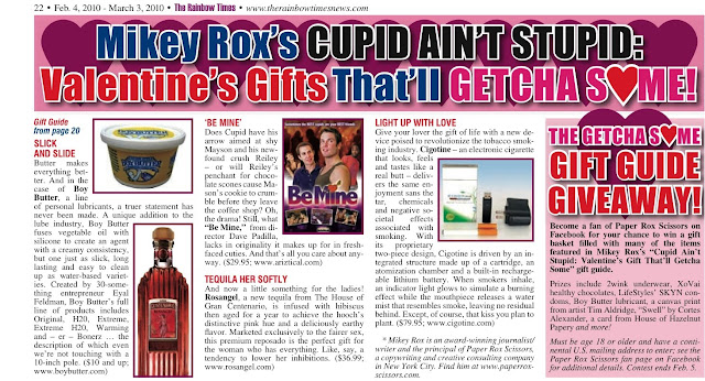 Boy Butter featured in Rainbow Times Valentine's Day Gift Guide