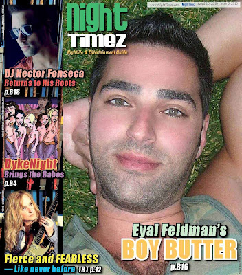 Boston's Night Timez Magazine features Eyal Feldman of Boy Butter