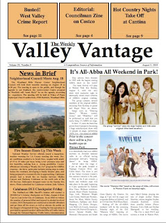 Los Angeles: The Valley Vantage Newspaper covered the news about my marathon charity swim last month.