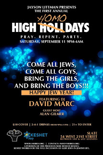 Gay Jewish New Year Party NYC!!!! SAT 10 pm