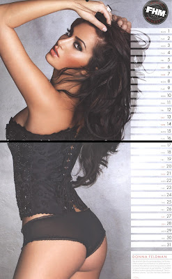 My super model sister, Donna Feldman is Ms. August in FHM 2011 Calendar