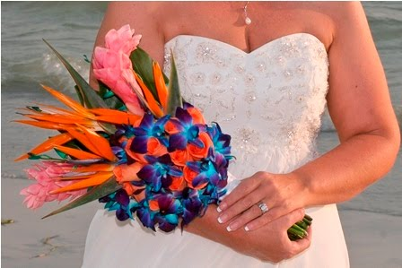 our first Best Florida Beach Wedding Bouquet of the Year contest