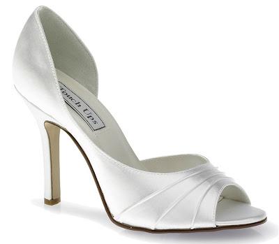 White Satin Wedding Shoes 11
