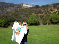 traveling squid in Hollywood with Kim Giancaterino