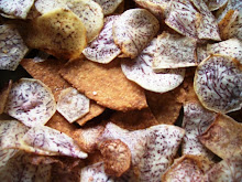 Homegrown taro chips