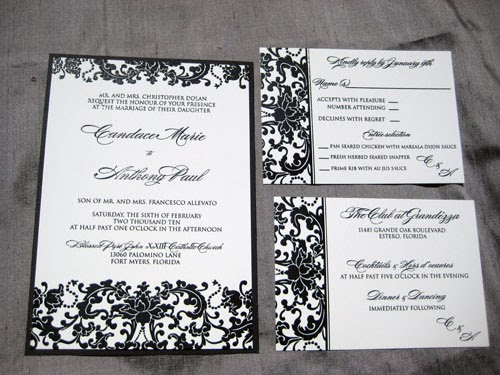 Black Thermography Wedding Invitations | Blush Paperie
