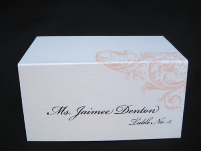 Wedding Card Fonts on Blush Paperie  Wedding Place Card Giveaway