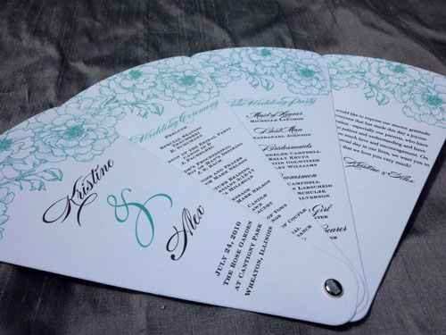 Petal Fan Wedding Programs