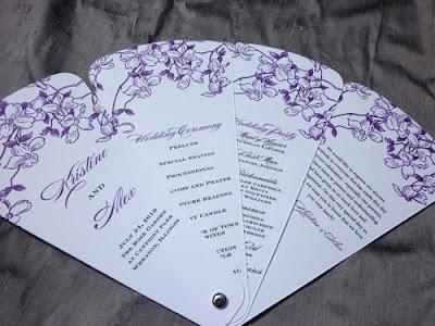 Modern Wedding Program on Blush Paperie  Petal Fan Wedding Programs