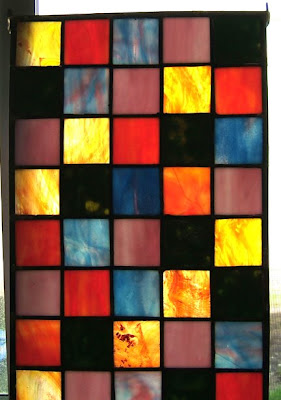 stained glass squares panel