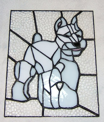 stained glass schnauzer