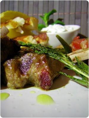 Lamm, Grillen, Pommes, Halloumi, Okra, Zaziki, Rezept, Gericht, Selbermachen, Zypern