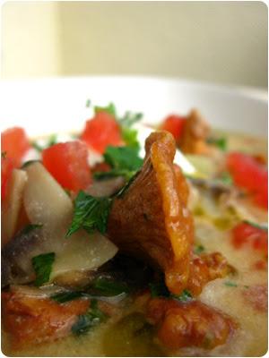 Slowenische Pilzsuppe - Corba od pecurki sa krompirom