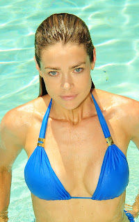 Denise Richards at the pool in San Diego
