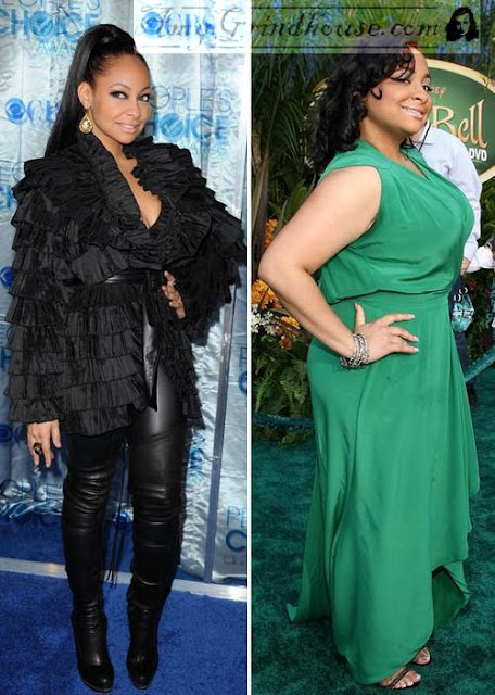 Raven Symone's drastic weight loss - Before & After Photo