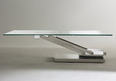 Berto Salotti Blog: Novità: Tavolino in cristallo e acciaio Agile