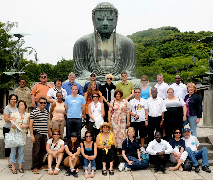 Our Group at the Great Statue of Kamakura in Japan