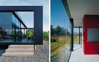 glass wall for natural lighting