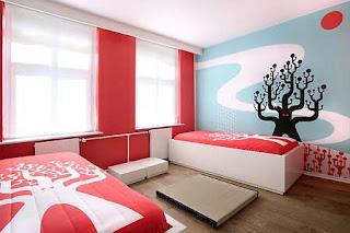 Amazing modern hotel's bedrooms interior design