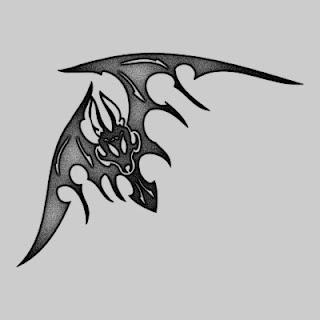 Bat tribal tattoos modern design