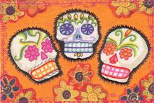 Tres Sugar Skulls