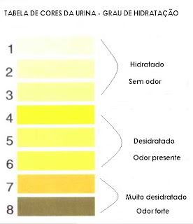 cores da urina