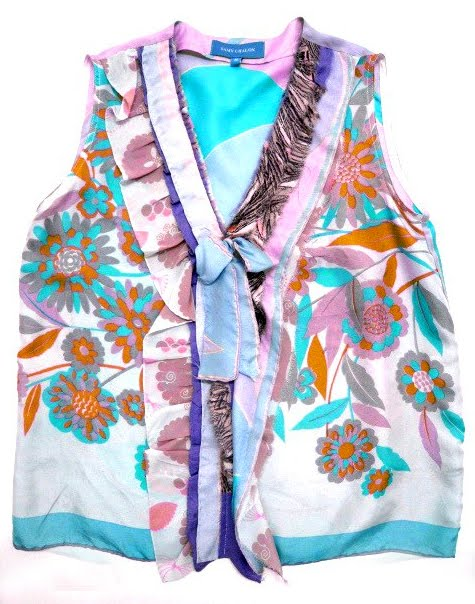 silk scarf top. Another silk scarf top