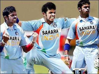 Sreesanth  jpgIndian Cricket Team Wallpapers 2009