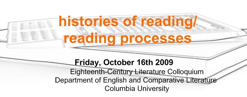 Histories of Reading/Reading Processes
