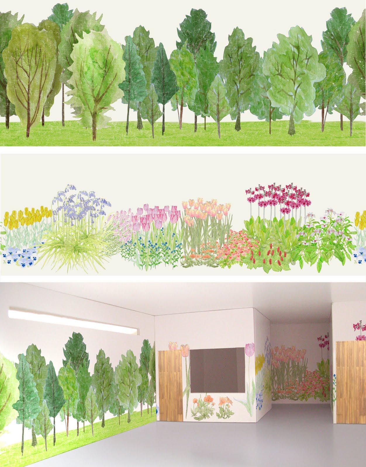 Sl Design Garden Mural Wallpaper Visualisation