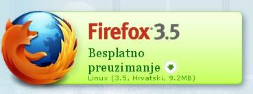 Download Mozilla Firefox 3.5 na hrvatskom jeziku