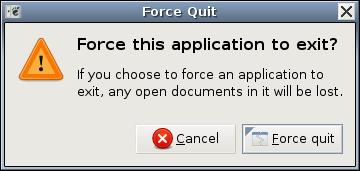 Force Quit u Ubuntu Linux