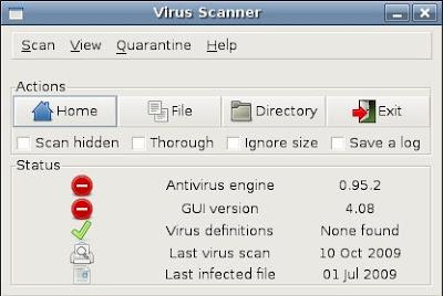 antivirusni program za Ubuntu Linux Clam AV