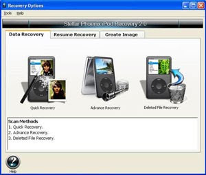 iPod Data Recovery - download besplatni programi - mp3 format