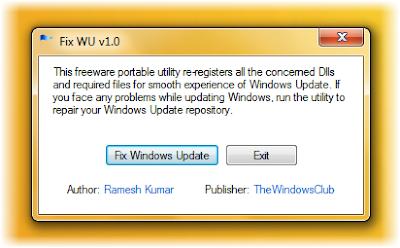 Download Fix WU Utility - obnovite i ispravite Windows Update