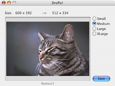 DroPic slike download besplatni programi Mac OS X