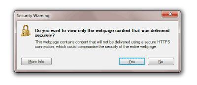 Ispravite HTTPS sigurnosna upozorenja u Internet Exploreru 8